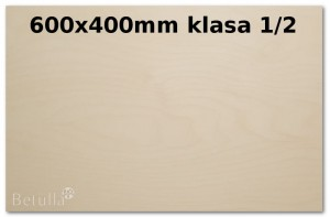 Formatka 600x400mm do lasera 3mm kl 1/2
